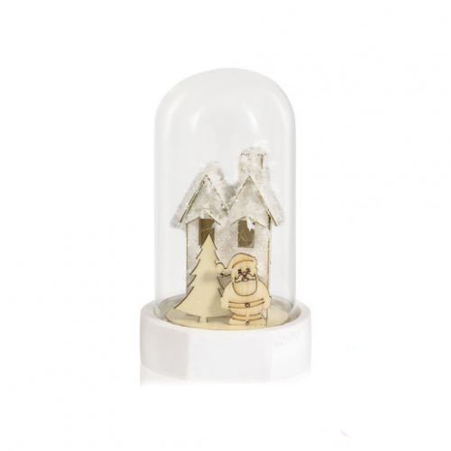 Стеклянные декор-купол с фигуркой