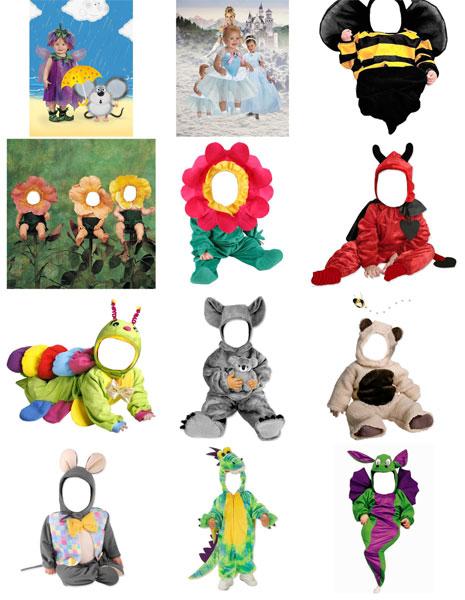 шаблоны для фотошопа - детский фотомонтаж