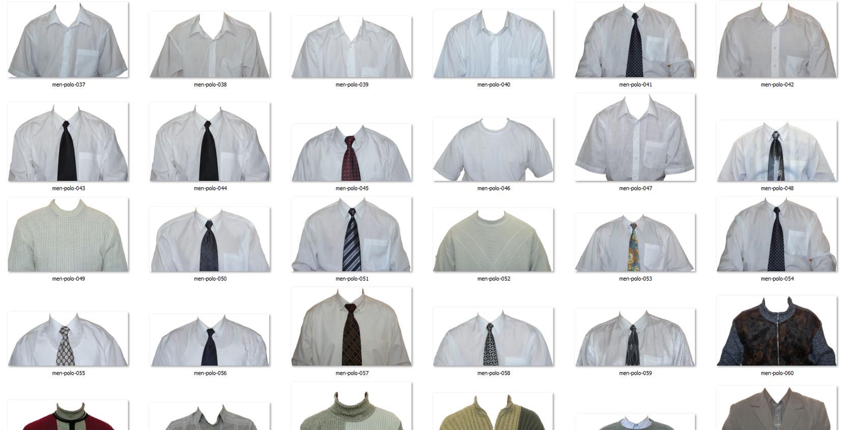 Большая коллекция мужских рубашек в png