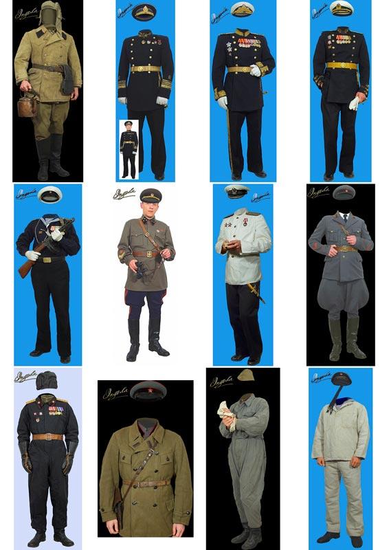 скачать шаблоны для монтажа мужчин в костюмы красноармейцев