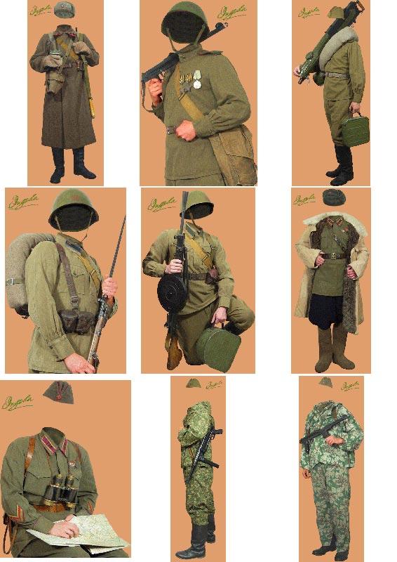 скачать бесплатно шаблоны для мужчины - тематика пехота