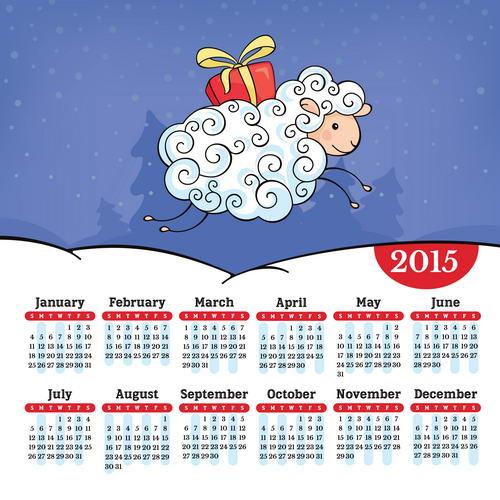 Сетки для календарей на 2015 год