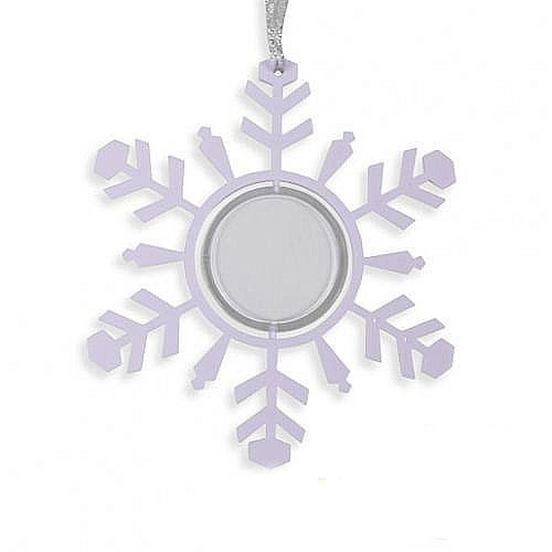 Снежинка-подвеска лиловый 100х3х113мм