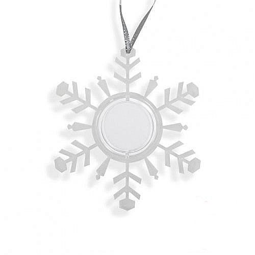 Снежинка-подвеска прозрачный 100х3х113мм