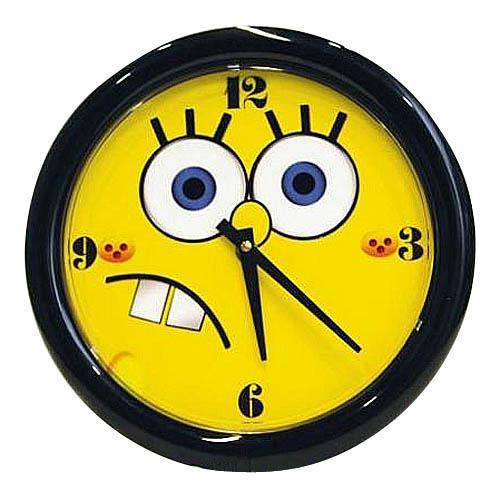 часы настенные в черной рамке