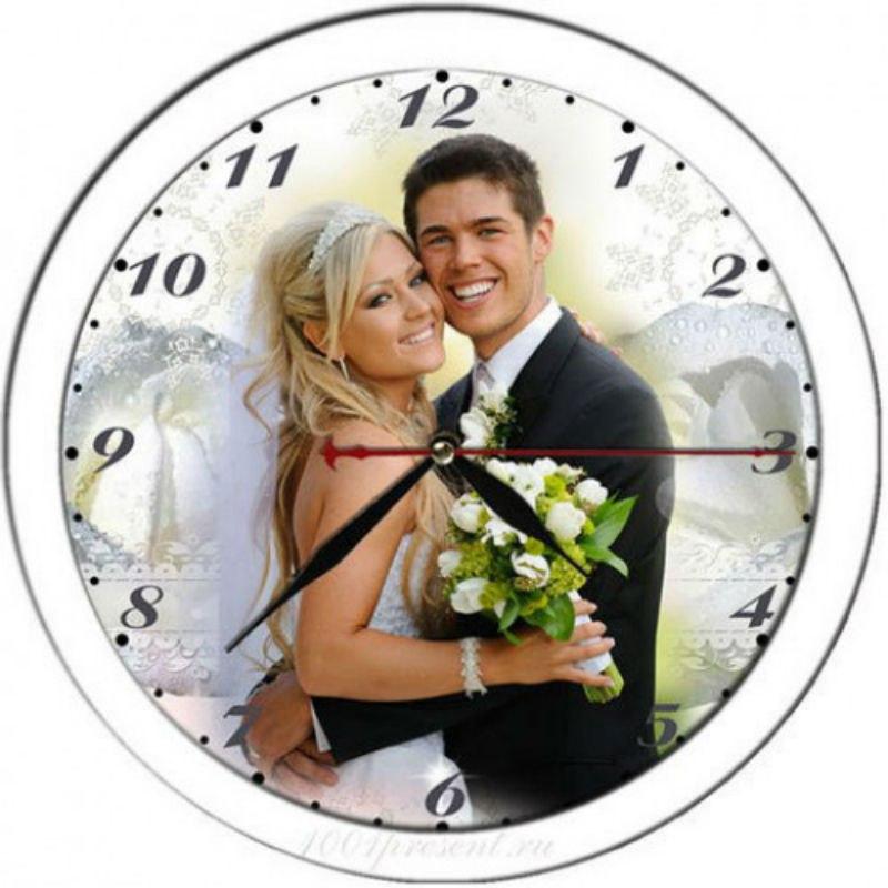 Часы на заказ - печать на часах - часы с фото
