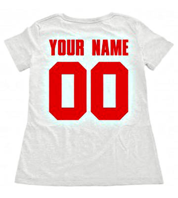футболка с именем и номером