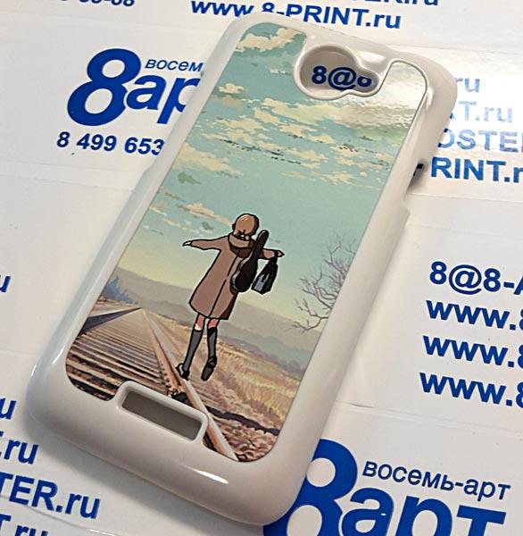 печать на чехлы для HTC One S