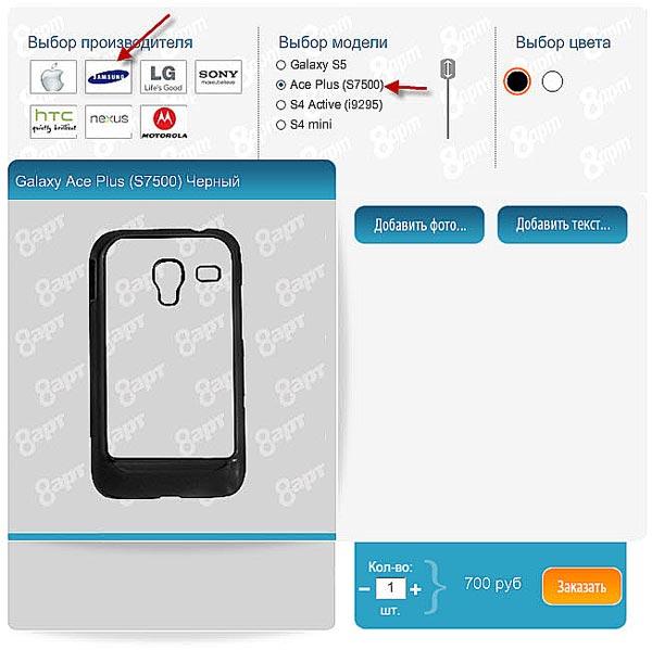 изготовление чехла с фото на заказ на телефон Ace Plus