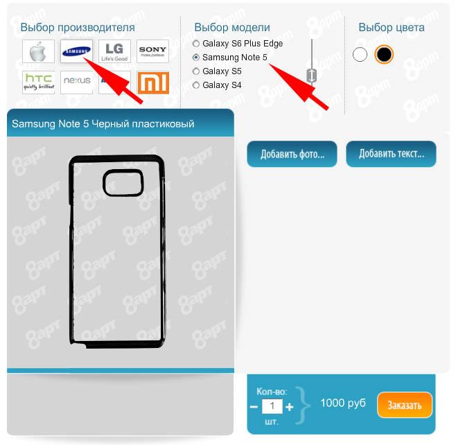 Печать на чехлах - Samsung Note 5