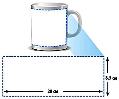 макет фотографии на кружку
