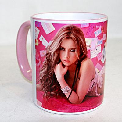 розовая кружка с фото