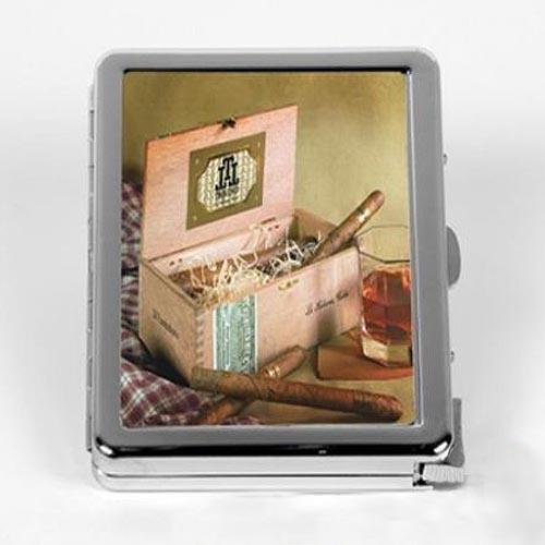 портсигар с фото