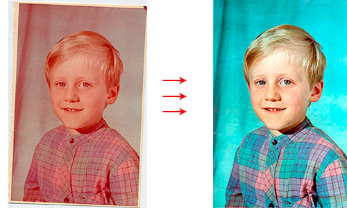 Восстановление старых фотографий