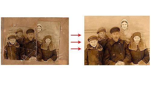 восстановление старых фотографий в фотошопе видео