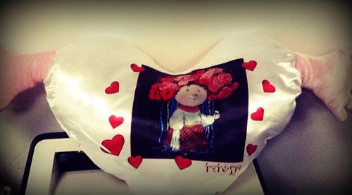 подушка на 14 февраля