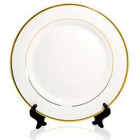 тарелка с золотой каемкой