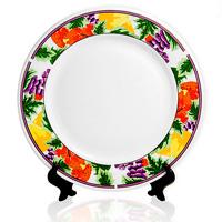 тарелка с цветочным орнаметом