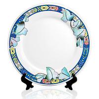тарелка с синими цветами