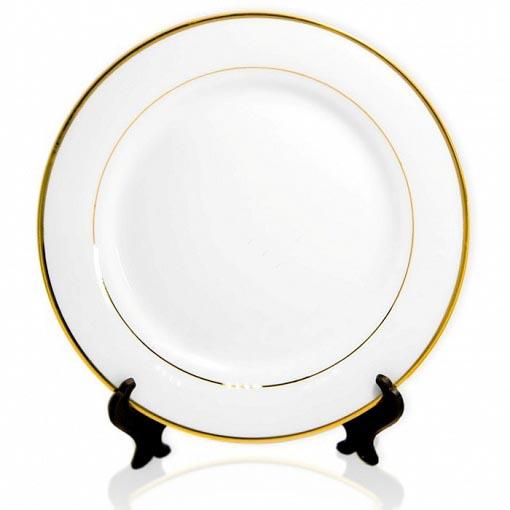 тарелка золотая каемка