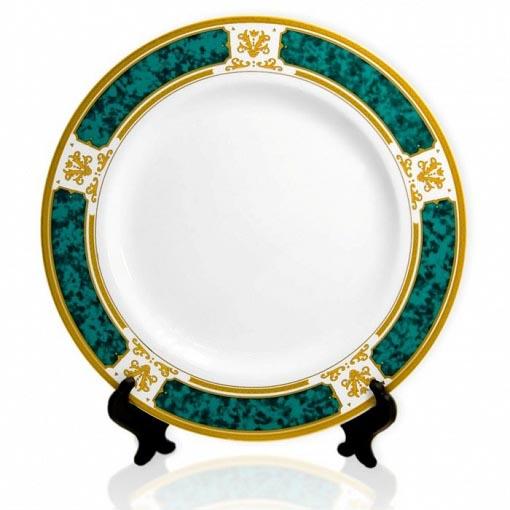 Тарелка зеленое золото 8-Art