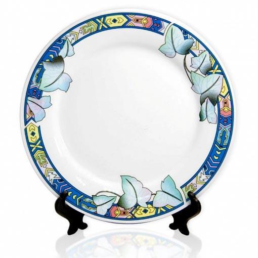 тарелка с цветочным ободком 8-Art
